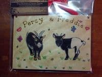 GOAT GARDEN FARM SHED OR WALL SIGN ANY COLOUR OR BREED WOODEN PERSONALISED ORDER 7 X 5 RECTANGLE